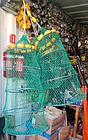 Садок рыболовный с поплавками и грузилом на 3 секции (кольца)