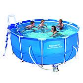 Круглый каркасный бассейн Bestway Metal Frame Pool (366х122) 56420 \ 56088