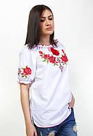 Женская вышиванка на короткий рукав