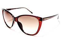 Очки солнцезащитные женские Tom Ford 128 C2 SM 02168, очки-бабочка бордовые