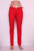 Женские летние брюки красного цвета M.Sara (код 1987