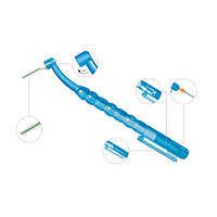 Держатель для ершика + 4 ершика Miradent Pic-Brush (ассорти), синий, фото 1