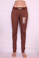 Женские летние брюки кофейного цвета M.Sara (код 2265-24)
