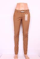 Женские летние брюки горчичного цвета M.Sara (код  2267-17)