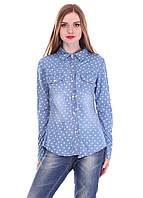 Красивая джинсовая женская рубашка