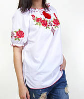 Блуза вышиванка на короткий рукав