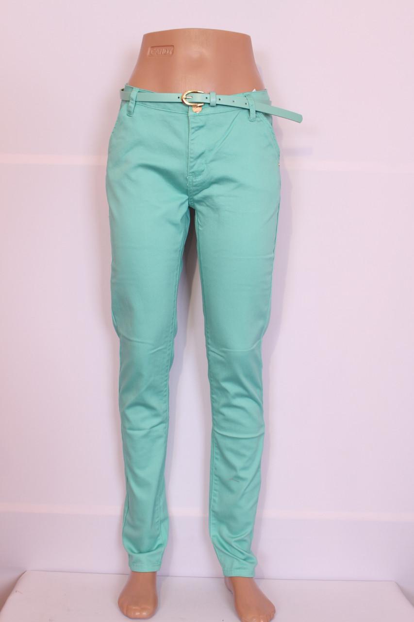 Женские летние брюки бирюзового цвета Moon girl (код 6200) -  Интернет-магазин