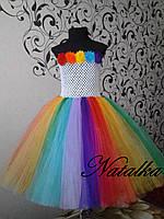 Платье ту-ту из фатина Радуга