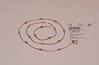 Серебряная цепочка снейк с цилиндриками  925 с позолотой 585 пробы