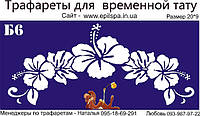 Трафарет для Био Тату 20*9 Б6 (одноразовый)