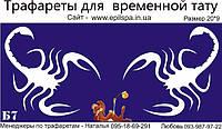Трафарет для Био Тату 20*9 Б7 (одноразовый)
