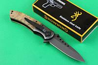 Тактический складной нож, рукоять дерево, складной нож Browning 351, красивые ножи