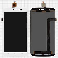 Дисплейный модуль (дисплей + сенсор) для BLU Life View L110 / L110a, белый, оригинал