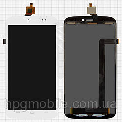 Дисплейный модуль (дисплей + сенсор) для BLU Life View L110, L110a, белый, оригинал