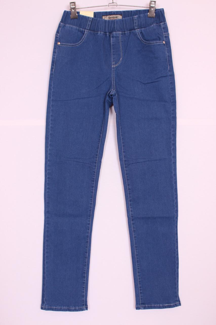 Жіночі джинси великого розміру без застібки пояс на резинці