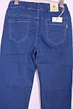 Жіночі джинси великого розміру без застібки пояс на резинці, фото 4