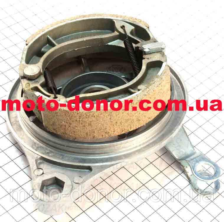 Панель тормозная задняя+колодки+торм. механизм для мопеда DELTA
