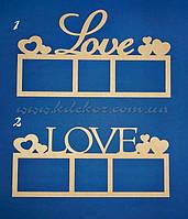 LOVE рамка для фото (заготовка для декупажа и декора)
