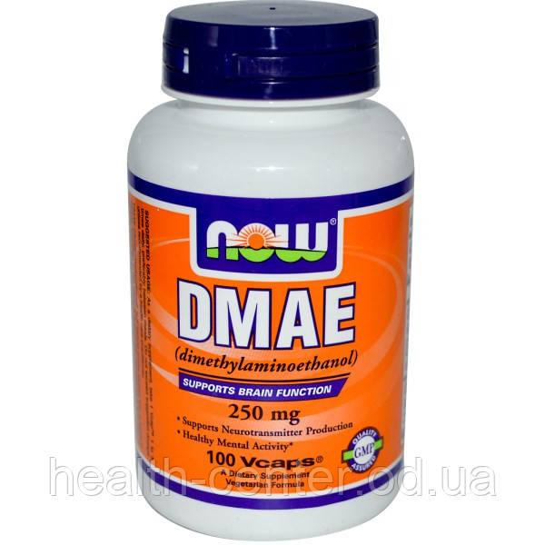 ДМАЭ (DMAE ) 100 капс 250 мг для упругости тонуса кожи лифтинг эффект для лица Now Foods USA