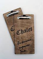 Счетница - планшет с зажимом,10х20 см, цвета разные, логотип - на заказ