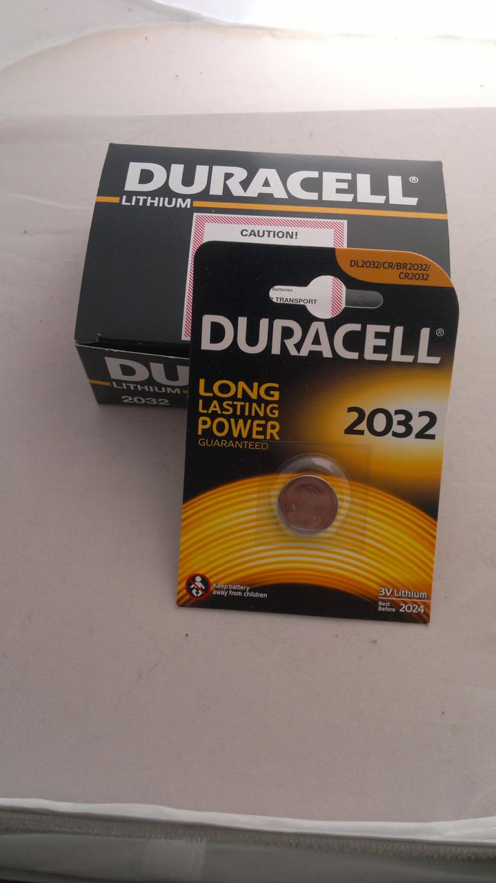 Батарейка для часов. Duracell CR2032 3.0V 200mAh 20x3.2mm. Литиевая