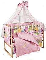 Комплект детского постельного белья на кроватку Веселые Мишки
