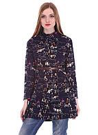 Женская рубашка - туника в абстрактный принт, фото 1
