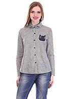 Стильная молодежная рубашка с котиком