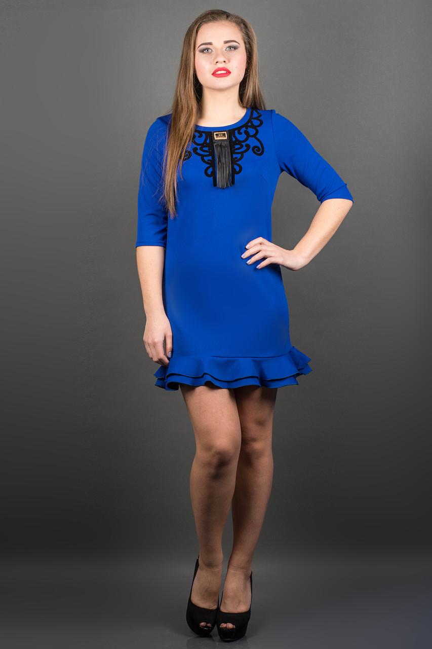 Яркое платье КУРАЖ (ЭЛЕКТРИК)