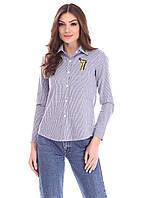 Красивая полосатая рубашка с карманом на груди, фото 1