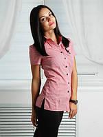 Женская рубашка в клетку v-5022
