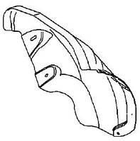 Подкрылок задний левый задняя половинка (облицовка колёсной коробки внутренняя задняя) , пластиковый , пластмассовый , штатный GM 6121778 13107653
