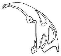Подкрылок задний правый задняя половинка (облицовка колёсной коробки внутренняя задняя) , пластиковый , пластмассовый , штатный GM 1122756 13107656
