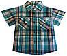 Детская рубашка на мальчика. 92-116 р.р. Бирюзовая. Оптом.