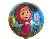 Воздушный фольгированный шарик Маша  диаметр 45 см.
