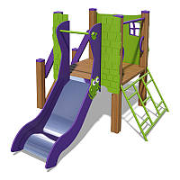 Игровой комплекс «Чемпион-1-NEW»  зелено-фиолетовый