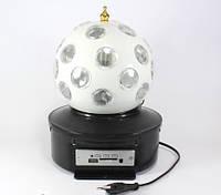Вращающийся Диско Шар Led Crystal Magic Ball Light K1 для вечеринок с флешкой и пультом