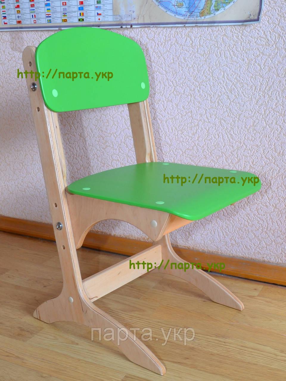 """Стул детский фанерный """"Антошка"""" регулируемый по высоте, цветной"""