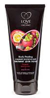"""Сладкий тропический пилинг для тела """"Organic мангостин +маракуйя Love 2 mix Organic, 200 мл. RBA /0-92 N"""
