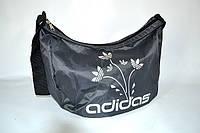 Сумка женская Adidas цветы LS-1026 (P8) серо/серебристый - ТОЛЬКО С ГОЛУБОЙ НАКАТКОЙ, фото 1