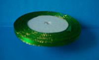 Лента атласная 0,5 см с люрексом №19