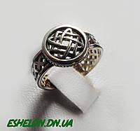 Кольцо-Оберег серебро Звезда Лады Богородицы  30293