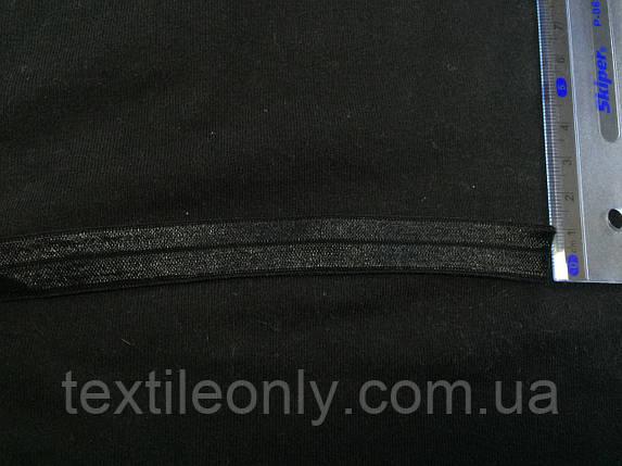 Трикотажная бейка цвет черный 15 мм, фото 2
