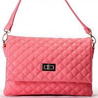 Женская сумка - клатчик Gilda Tohetti  в мелкую стежку розового цвета