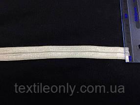 Трикотажна бейка колір білий 15 мм