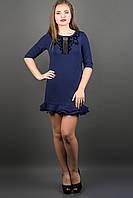 Модное платье КУРАЖ (синий) , фото 1