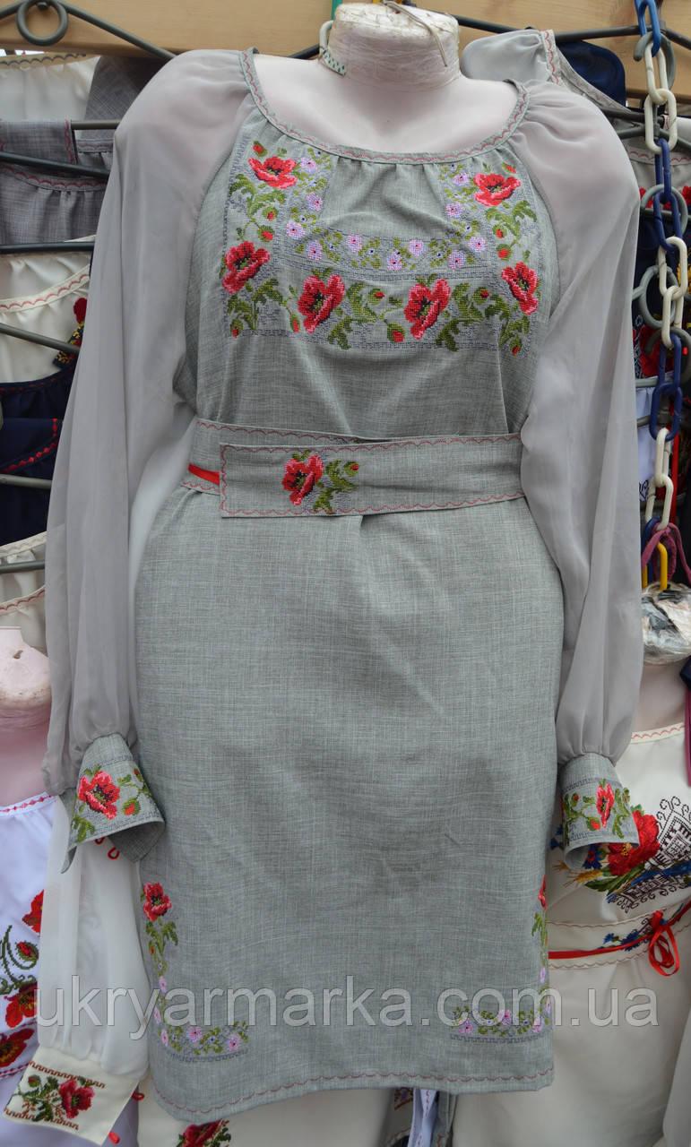 """Плаття  з маками """"Марія"""""""