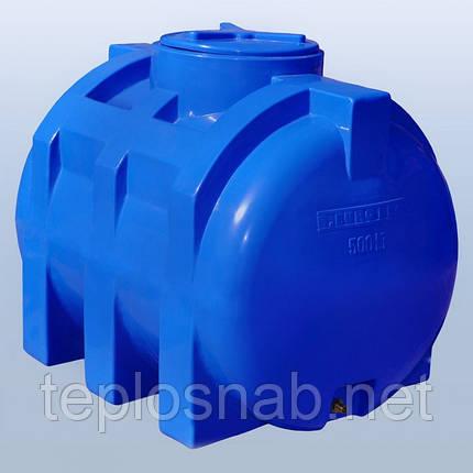 Пластиковый бак (емкость  горизонтальная) RG 500 двухслойная, фото 2