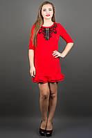 Стильное платье КУРАЖ (красный)