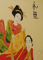 Роспись стен в Японском стиле с иероглифами
